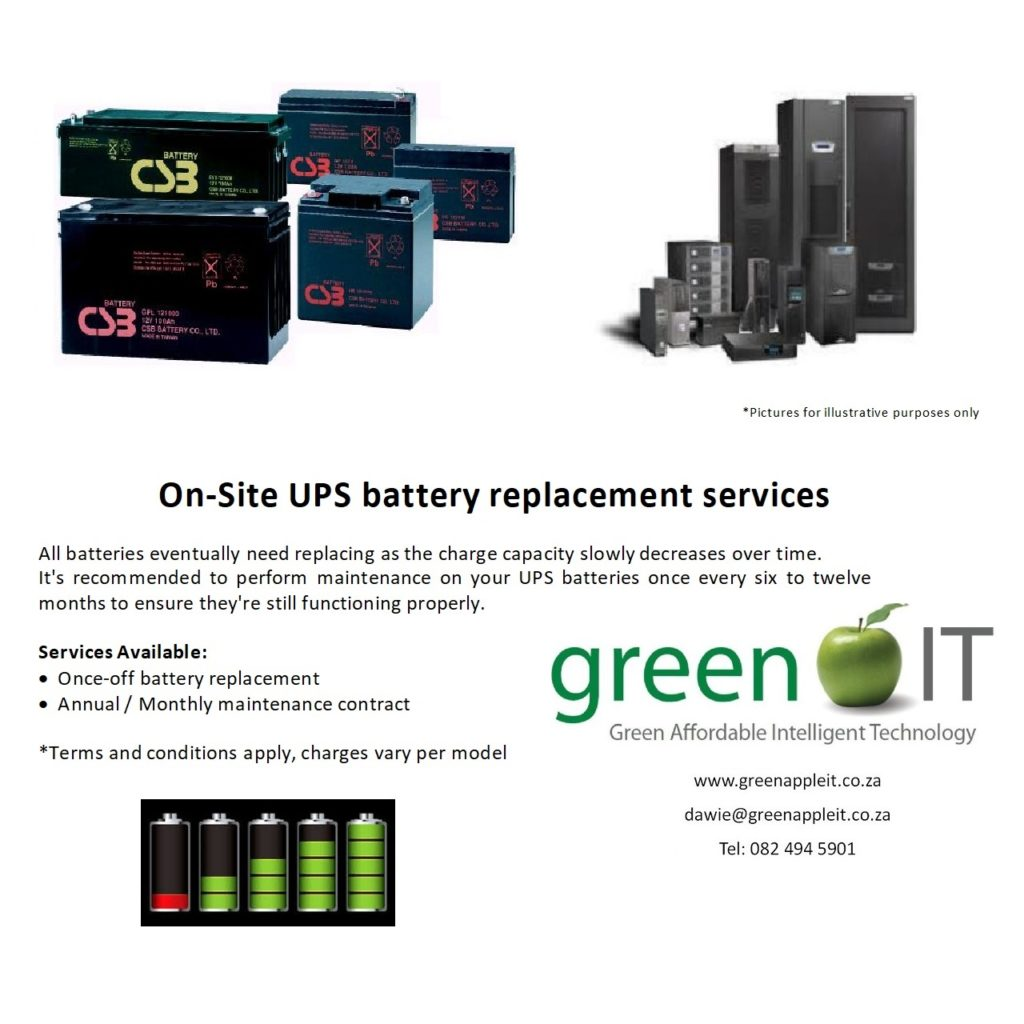 UPS Battery Replacements | Green Apple IT - Green Affordable